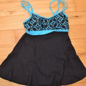 swimdress mainstream 10 brown blue bathing suit